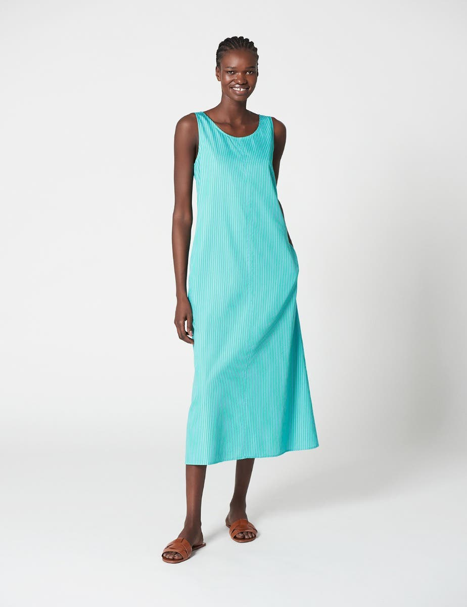 SUMMER STRIPED A LINE SHIFT DRESS