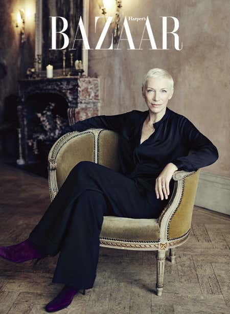 Annie Lennox wears Winser London