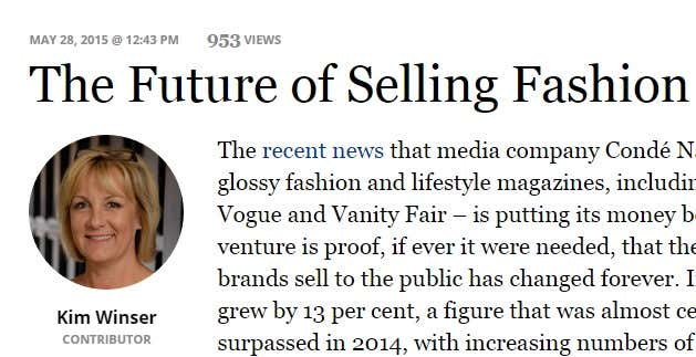 Kim Winser in Forbes