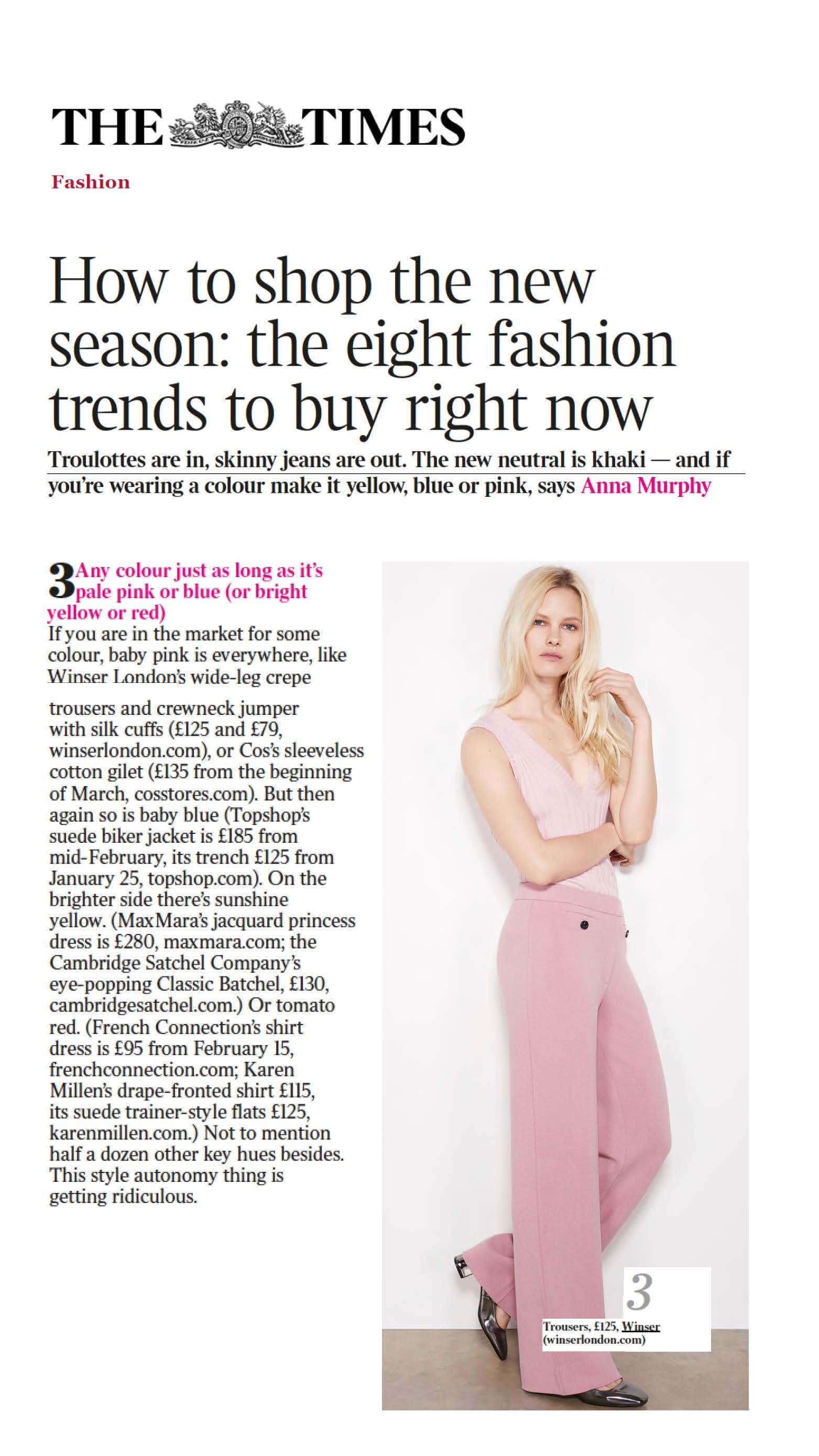 The Times - HOW TO SHOP THE NEW SEASON