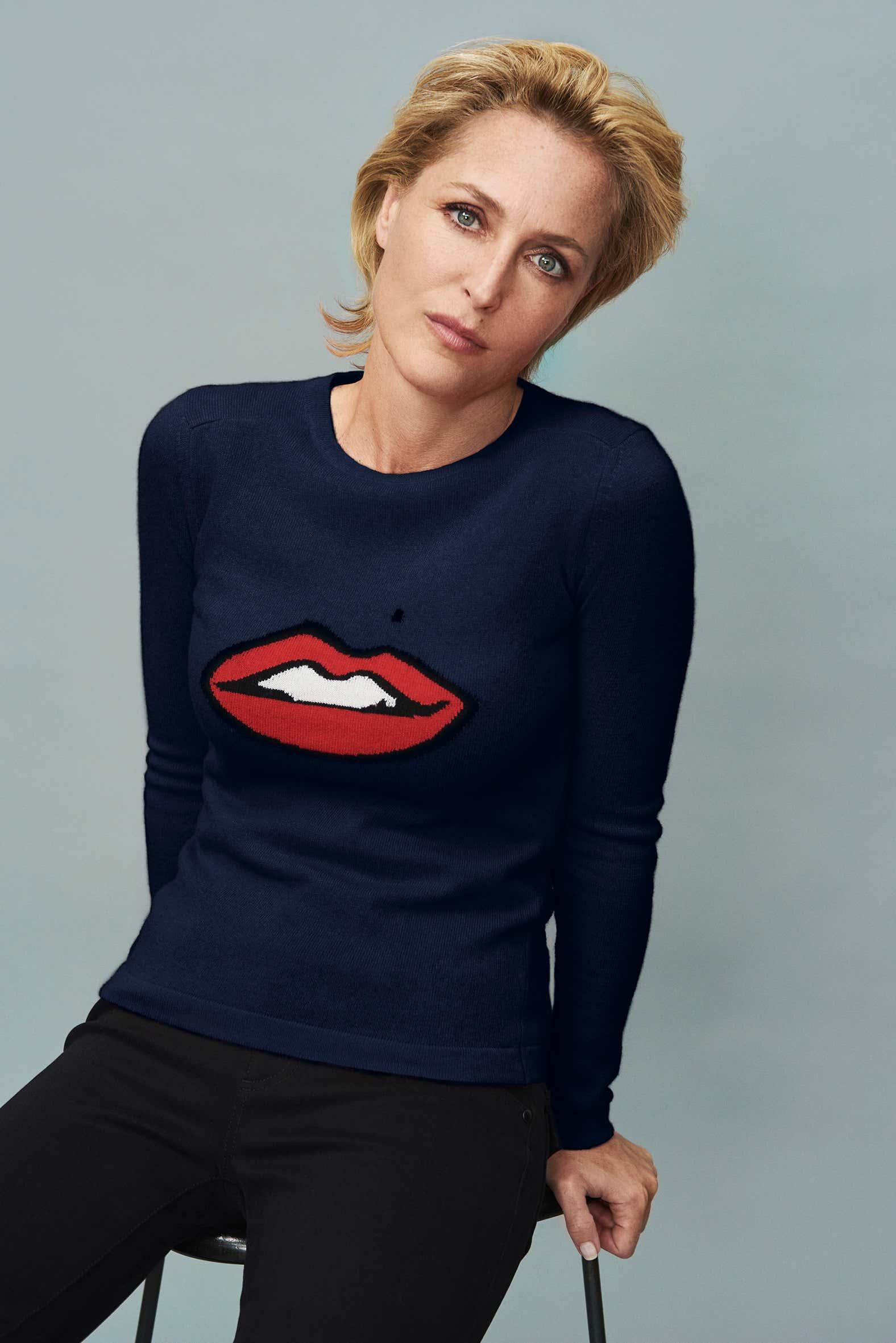 Gillian Anderson Lips jumper